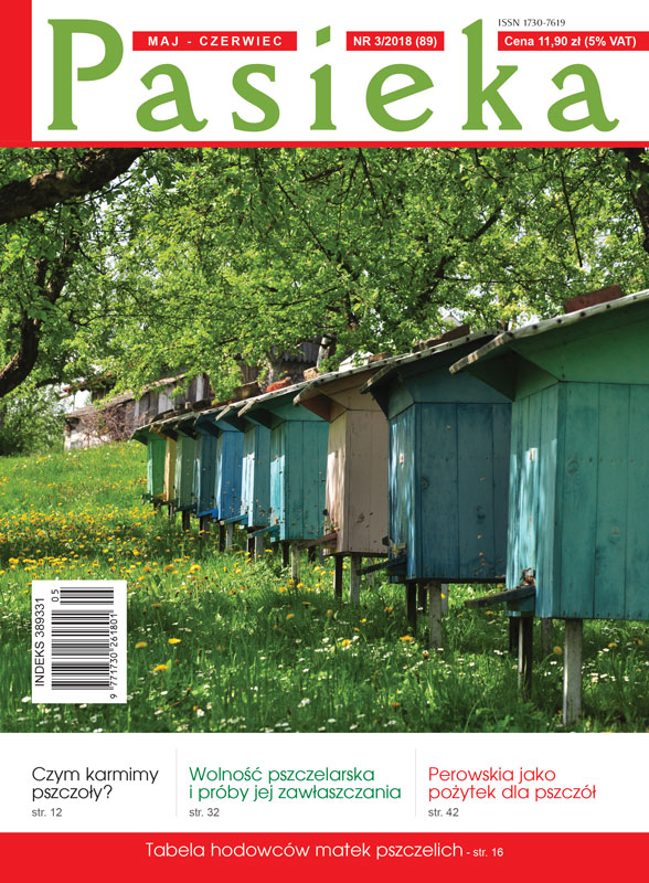 okładka czasopisma Pasieka